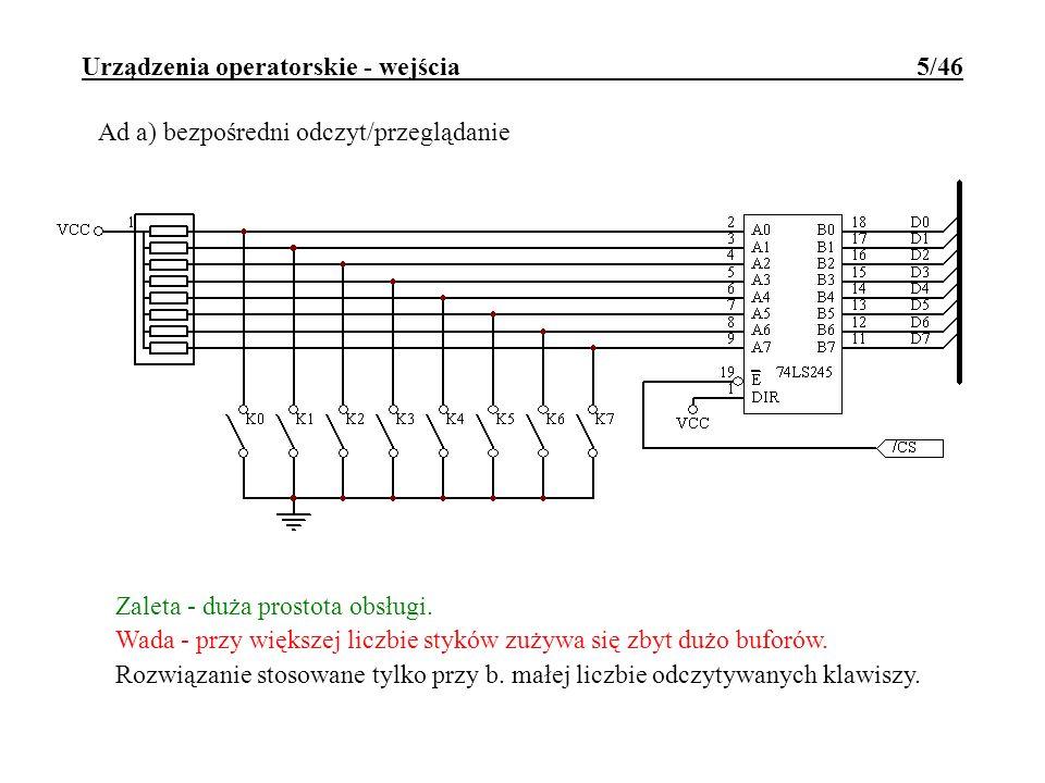 Urządzenia operatorskie - wejścia 5/46
