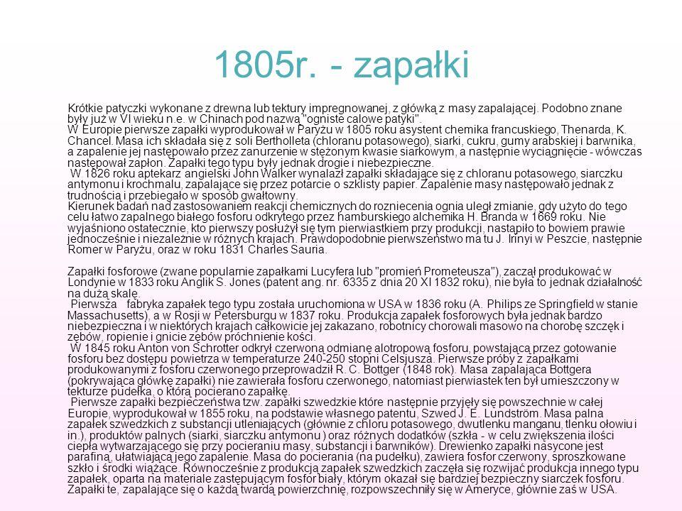 1805r. - zapałki