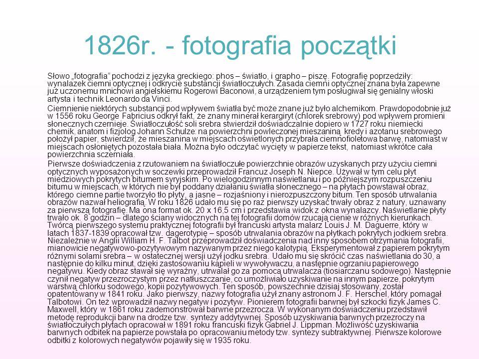 1826r. - fotografia początki