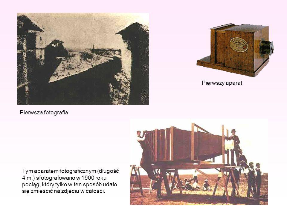 Pierwszy aparat Pierwsza fotografia.