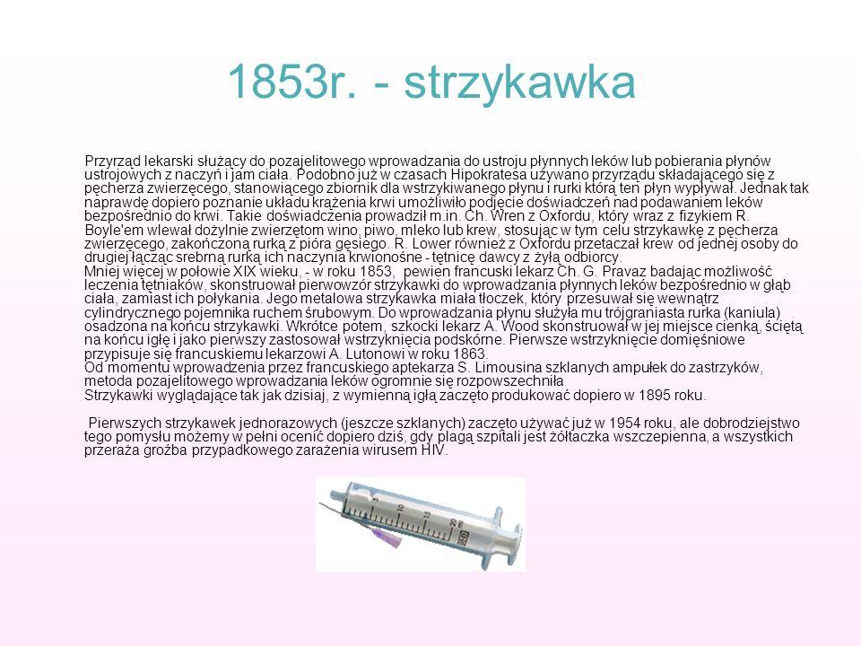 1853r. - strzykawka