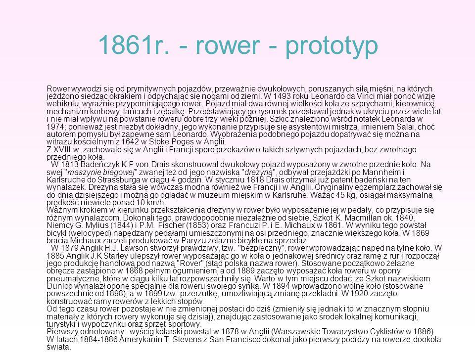 1861r. - rower - prototyp