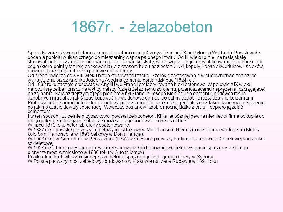 1867r. - żelazobeton