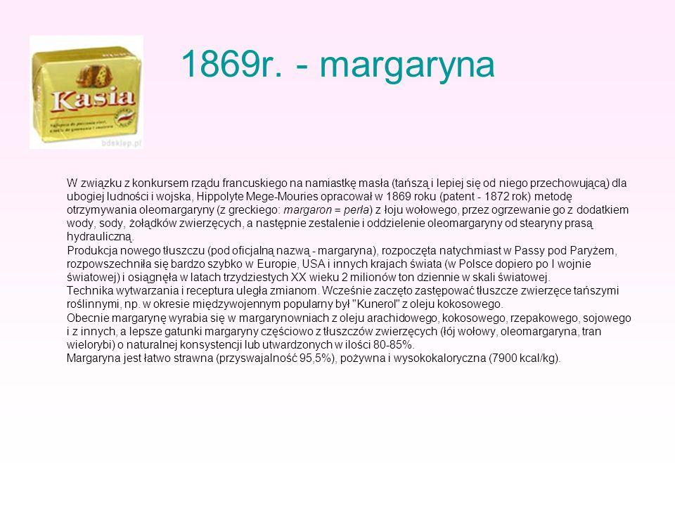 1869r. - margaryna