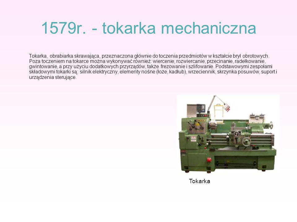 1579r. - tokarka mechaniczna