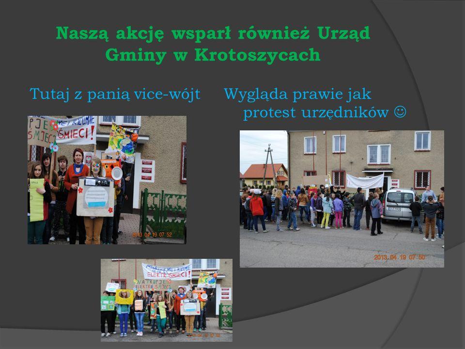 Naszą akcję wsparł również Urząd Gminy w Krotoszycach