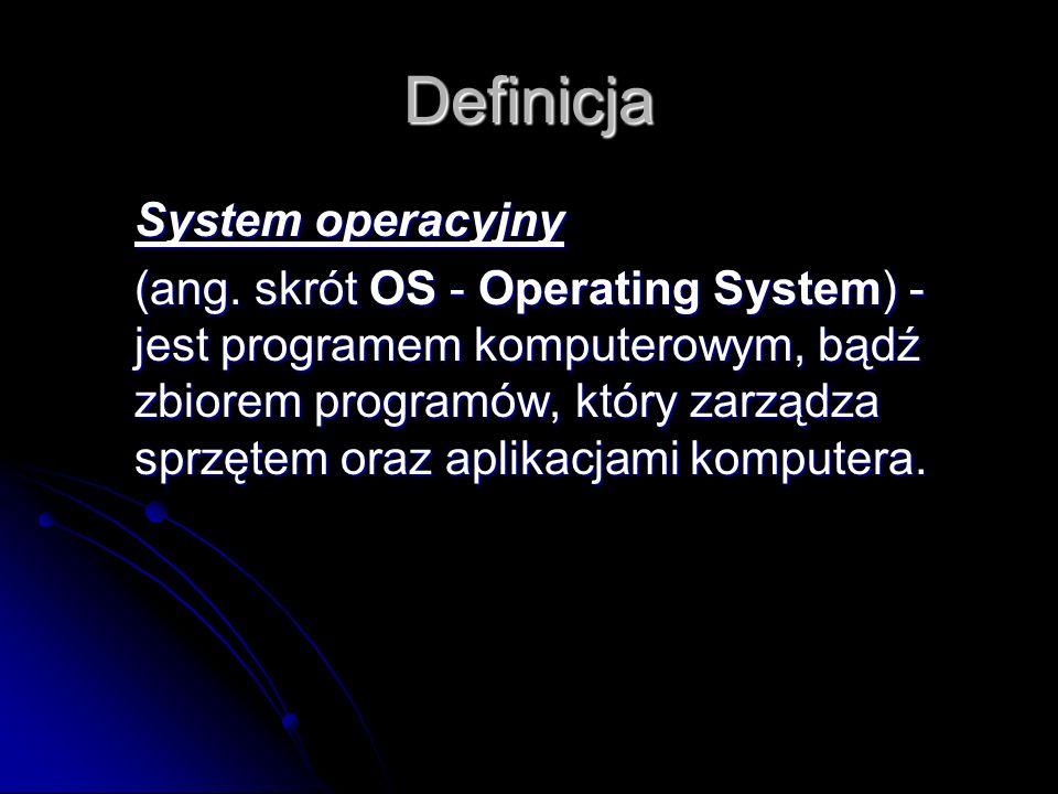 Definicja System operacyjny