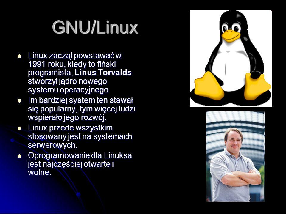 GNU/Linux Linux zaczął powstawać w 1991 roku, kiedy to fiński programista, Linus Torvalds stworzył jądro nowego systemu operacyjnego.