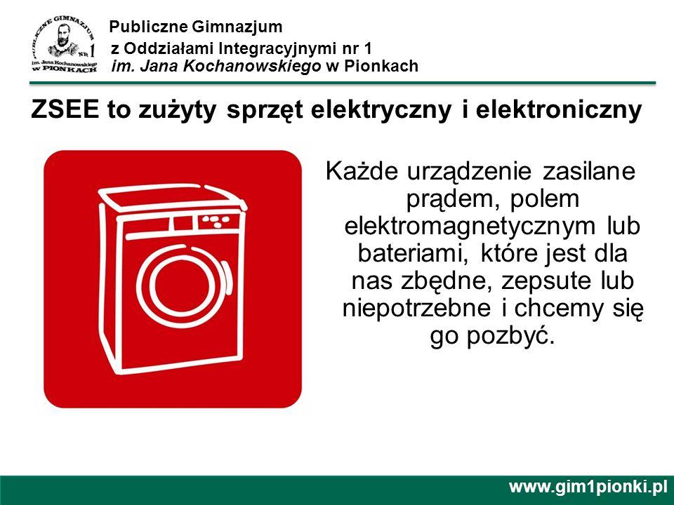 ZSEE to zużyty sprzęt elektryczny i elektroniczny