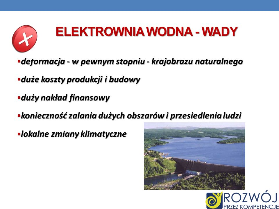 Elektrownia wodna - wady