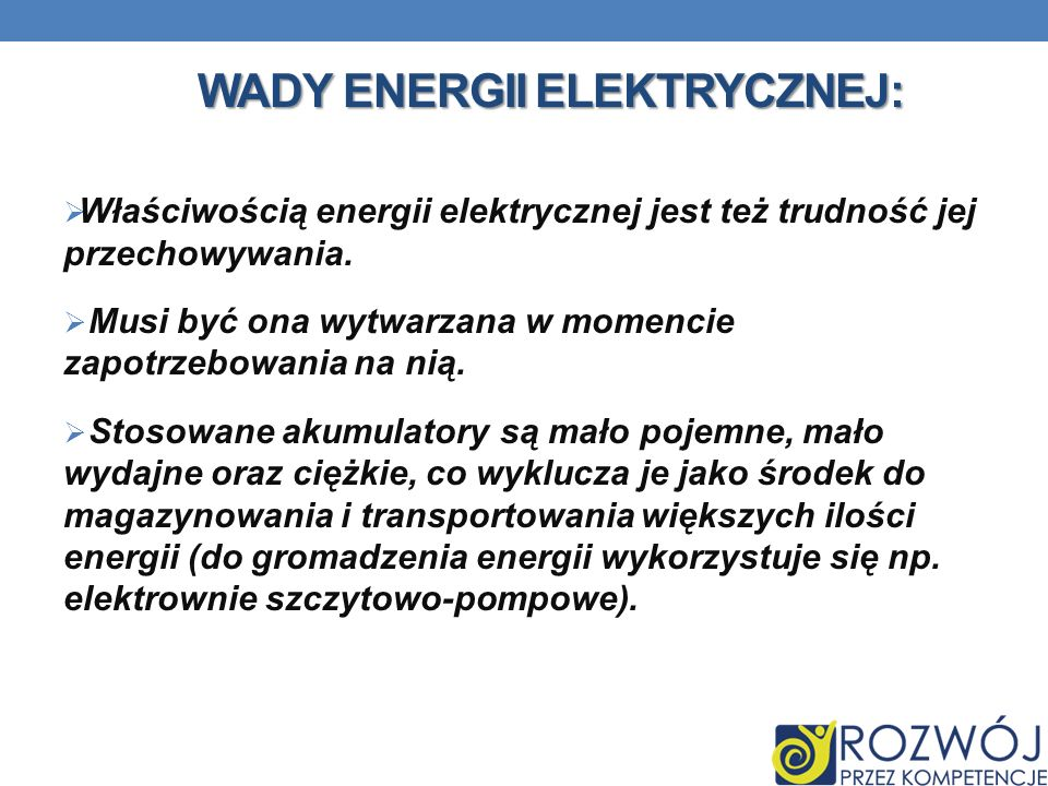 Wady energii elektrycznej: