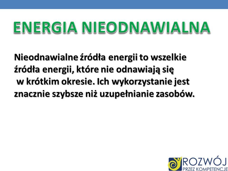 ENERGIA NIEODNAWIALNA