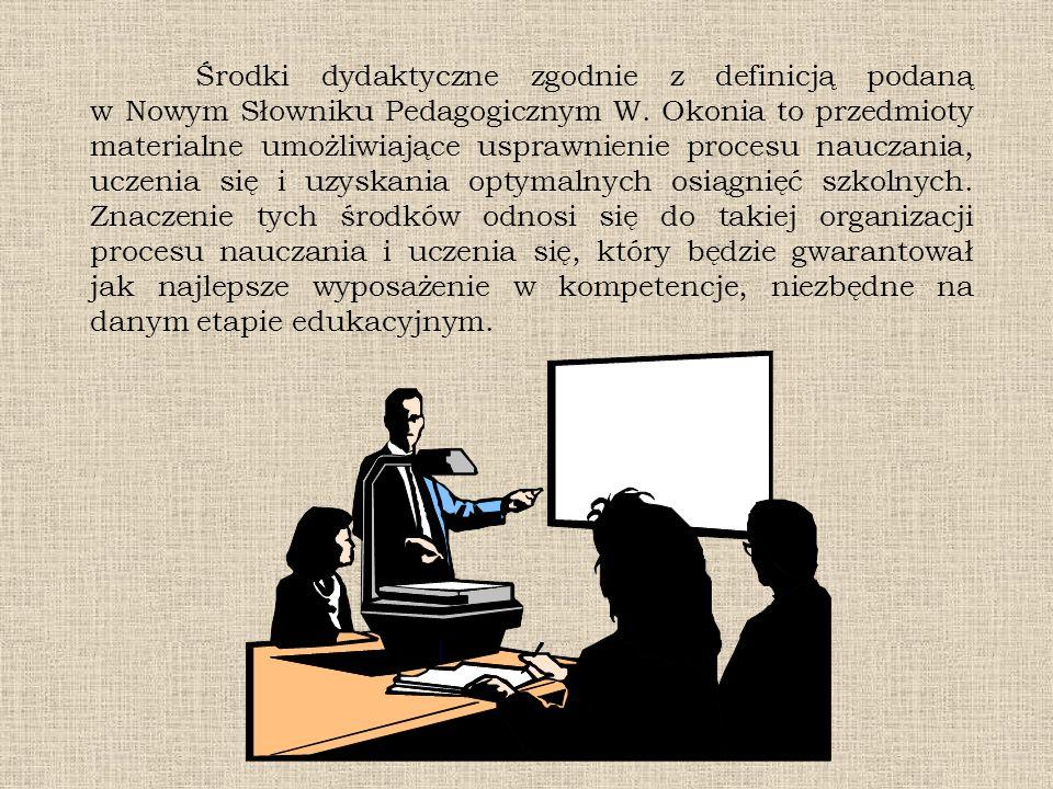 Środki dydaktyczne zgodnie z definicją podaną w Nowym Słowniku Pedagogicznym W.