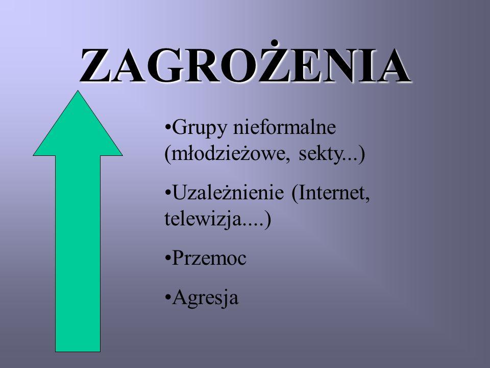 ZAGROŻENIA Grupy nieformalne (młodzieżowe, sekty...)