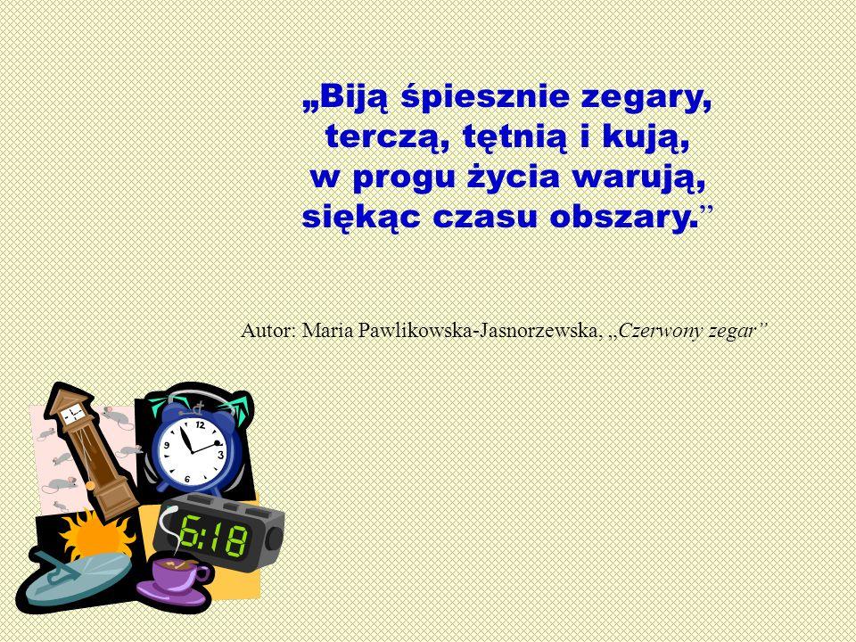 """Autor: Maria Pawlikowska-Jasnorzewska, """"Czerwony zegar"""
