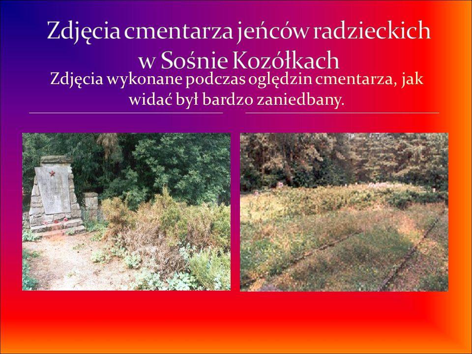 Zdjęcia cmentarza jeńców radzieckich w Sośnie Kozółkach
