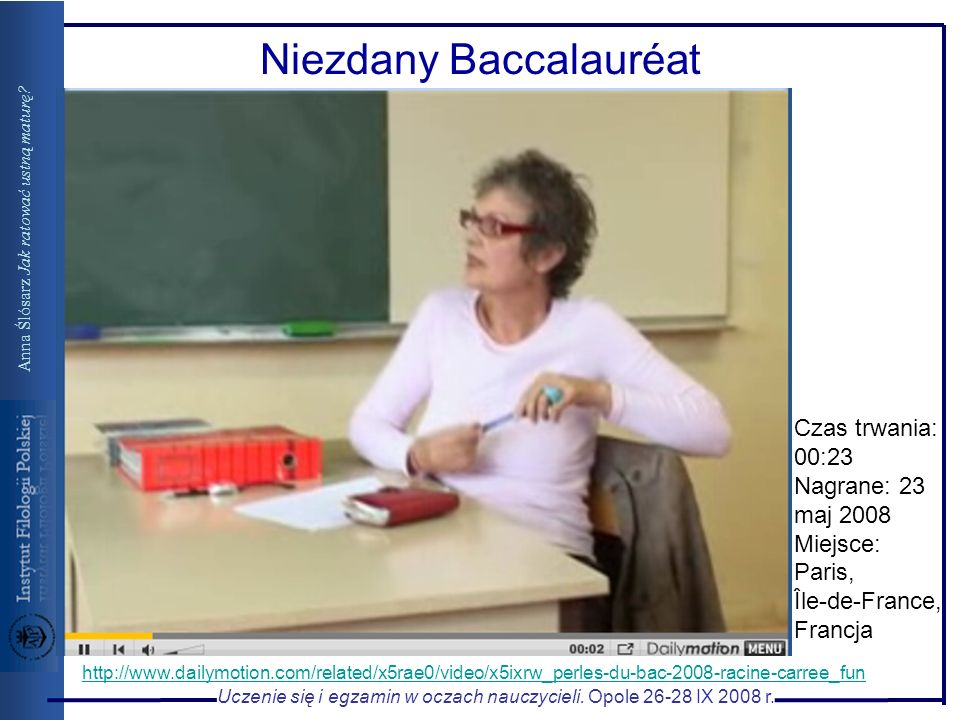 Niezdany Baccalauréat