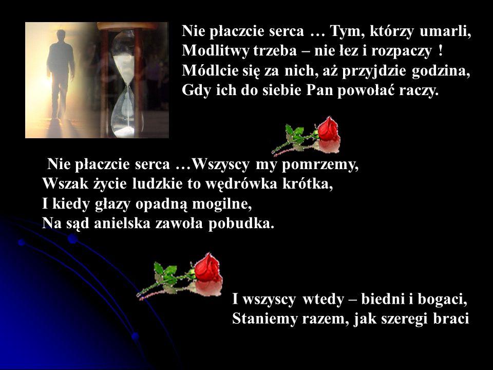 Nie płaczcie serca … Tym, którzy umarli,