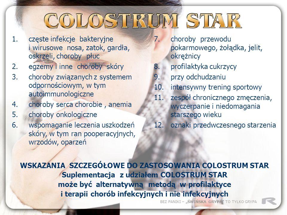 WSKAZANIA SZCZEGÓŁOWE DO ZASTOSOWANIA COLOSTRUM STAR