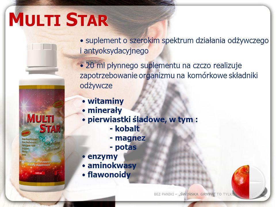 MULTI STARsuplement o szerokim spektrum działania odżywczego i antyoksydacyjnego.