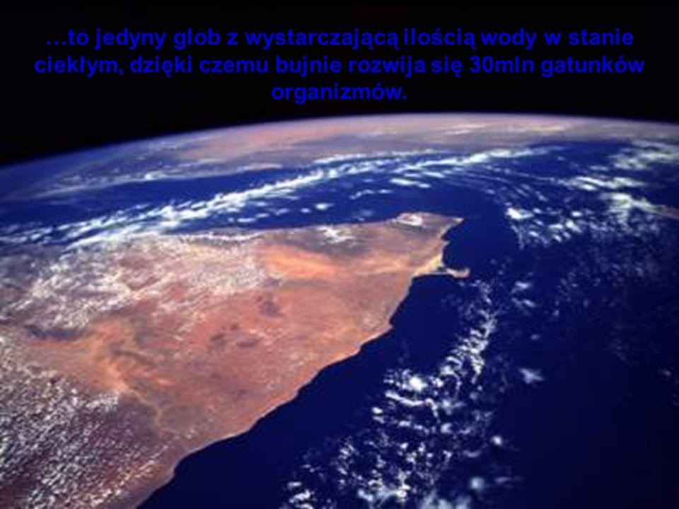 …to jedyny glob z wystarczającą ilością wody w stanie ciekłym, dzięki czemu bujnie rozwija się 30mln gatunków organizmów.