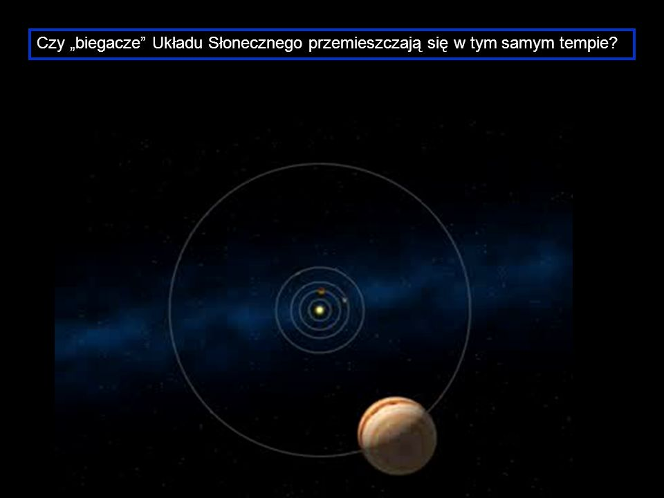 """Czy """"biegacze Układu Słonecznego przemieszczają się w tym samym tempie"""