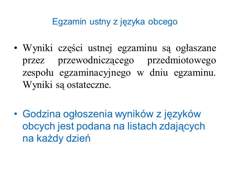 Egzamin ustny z języka obcego