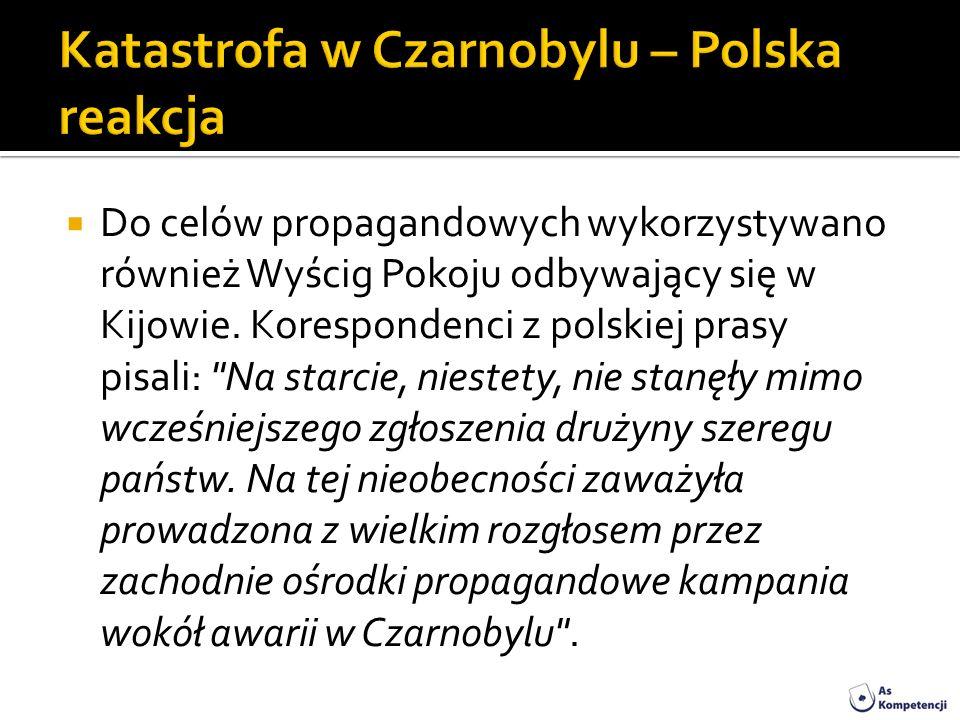 Katastrofa w Czarnobylu – Polska reakcja