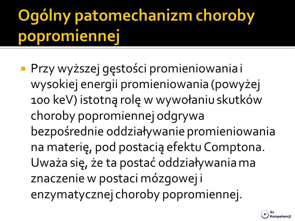 Ogólny patomechanizm choroby popromiennej