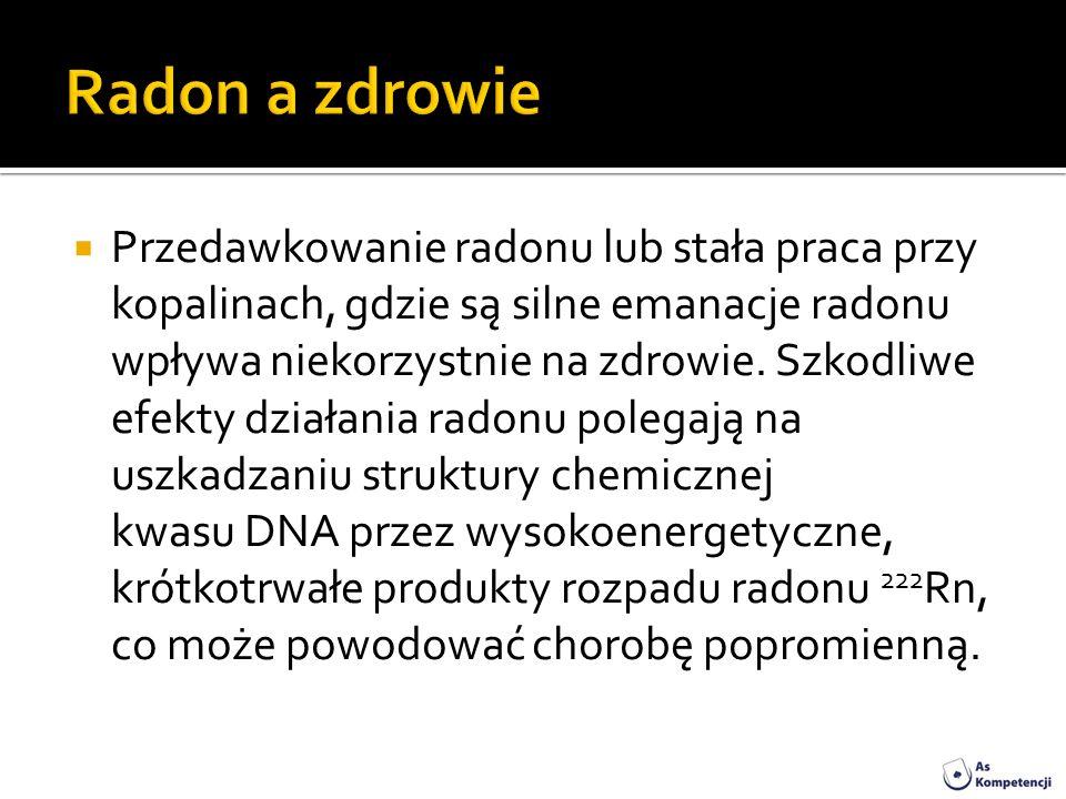 Radon a zdrowie
