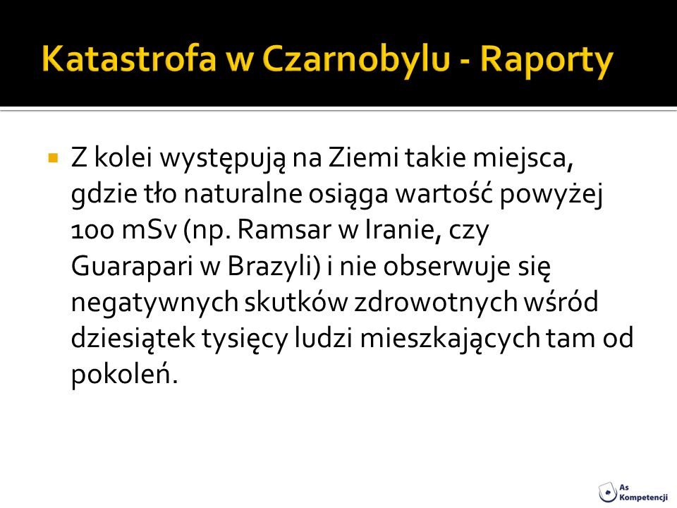 Katastrofa w Czarnobylu - Raporty