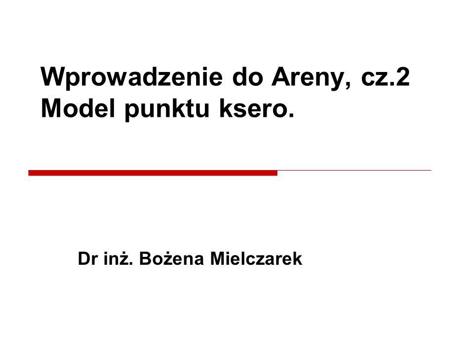 Wprowadzenie do Areny, cz.2 Model punktu ksero.