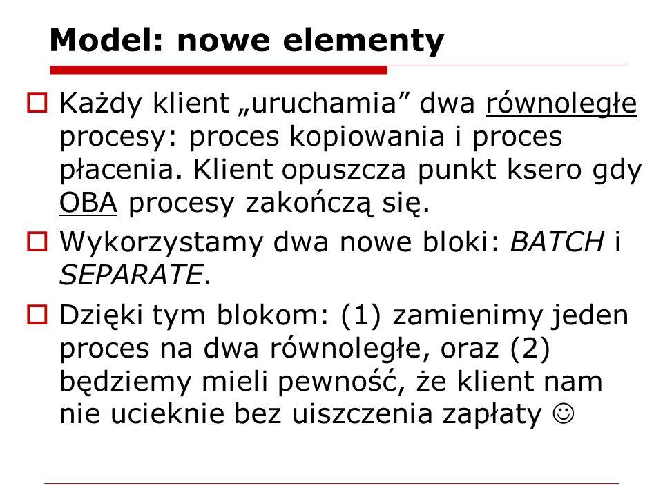 Model: nowe elementy