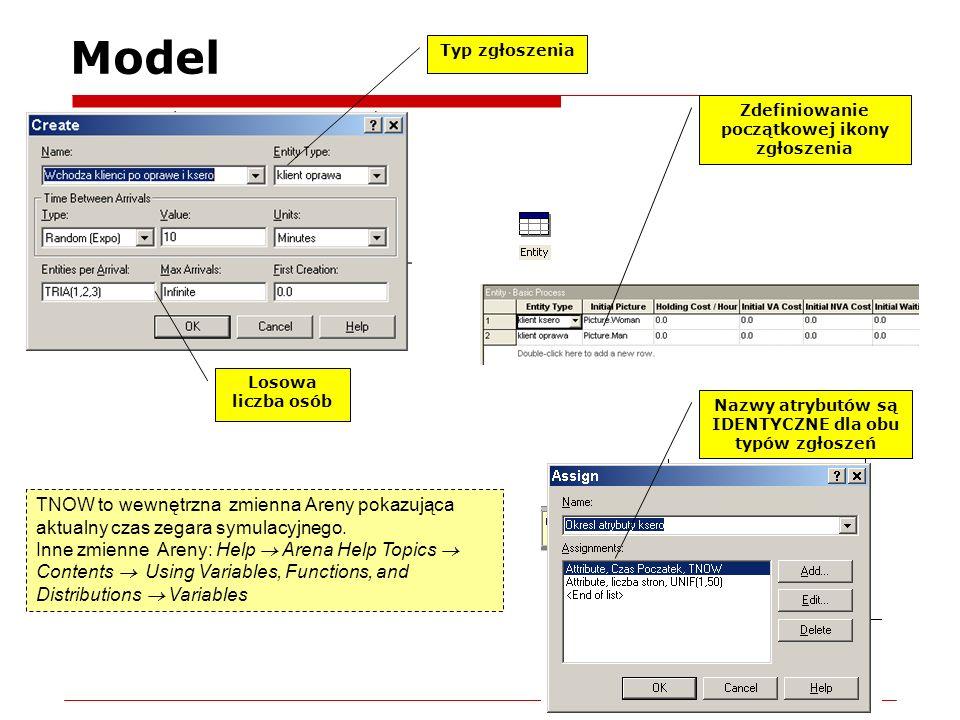 Model Typ zgłoszenia. Zdefiniowanie początkowej ikony zgłoszenia. Losowa liczba osób. Nazwy atrybutów są IDENTYCZNE dla obu typów zgłoszeń.