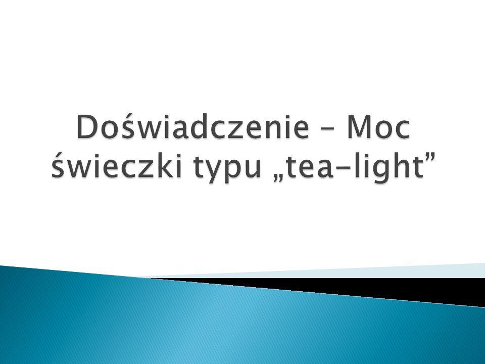 """Doświadczenie – Moc świeczki typu """"tea-light"""