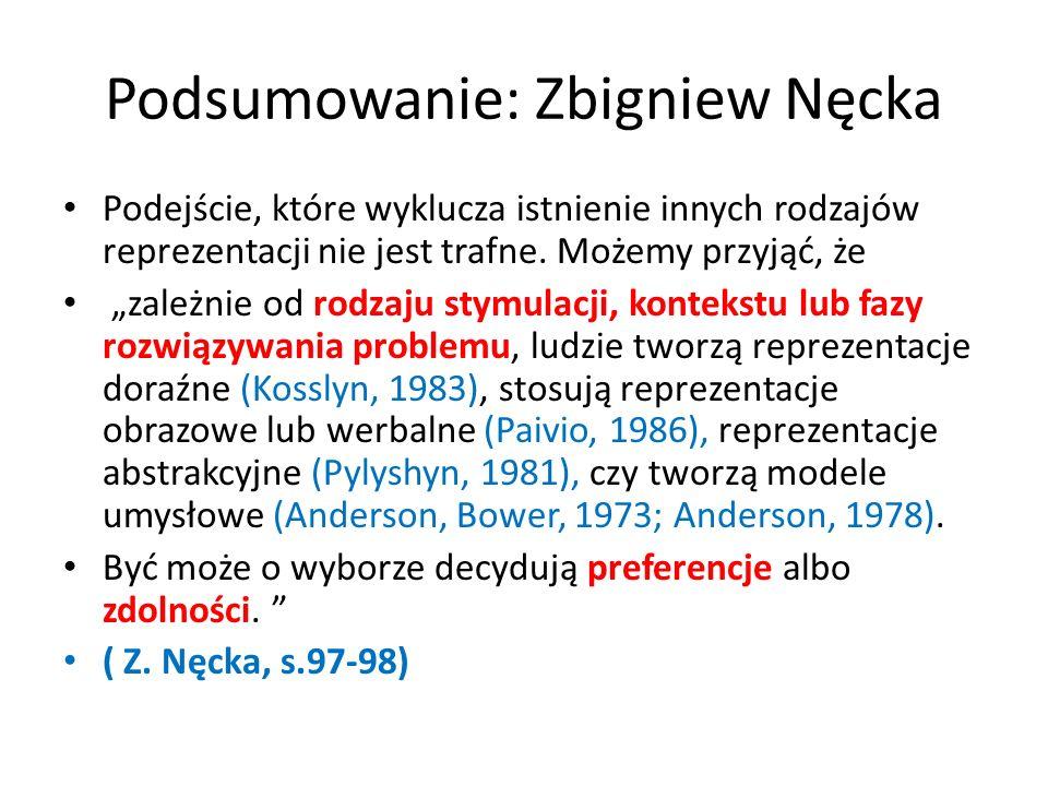 Podsumowanie: Zbigniew Nęcka