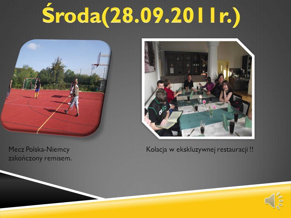 Środa(28.09.2011r.) Mecz Polska-Niemcy zakończony remisem.
