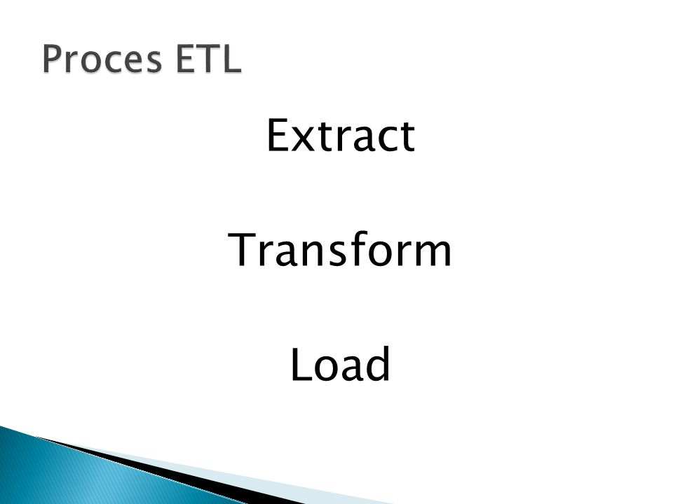 Extract Transform Load