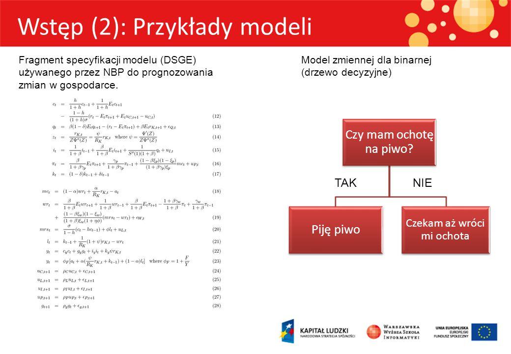 Wstęp (2): Przykłady modeli