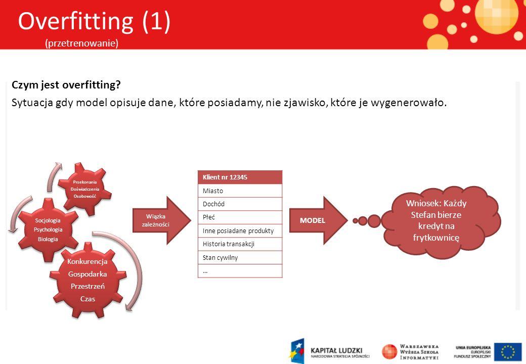 Overfitting (1) (przetrenowanie)