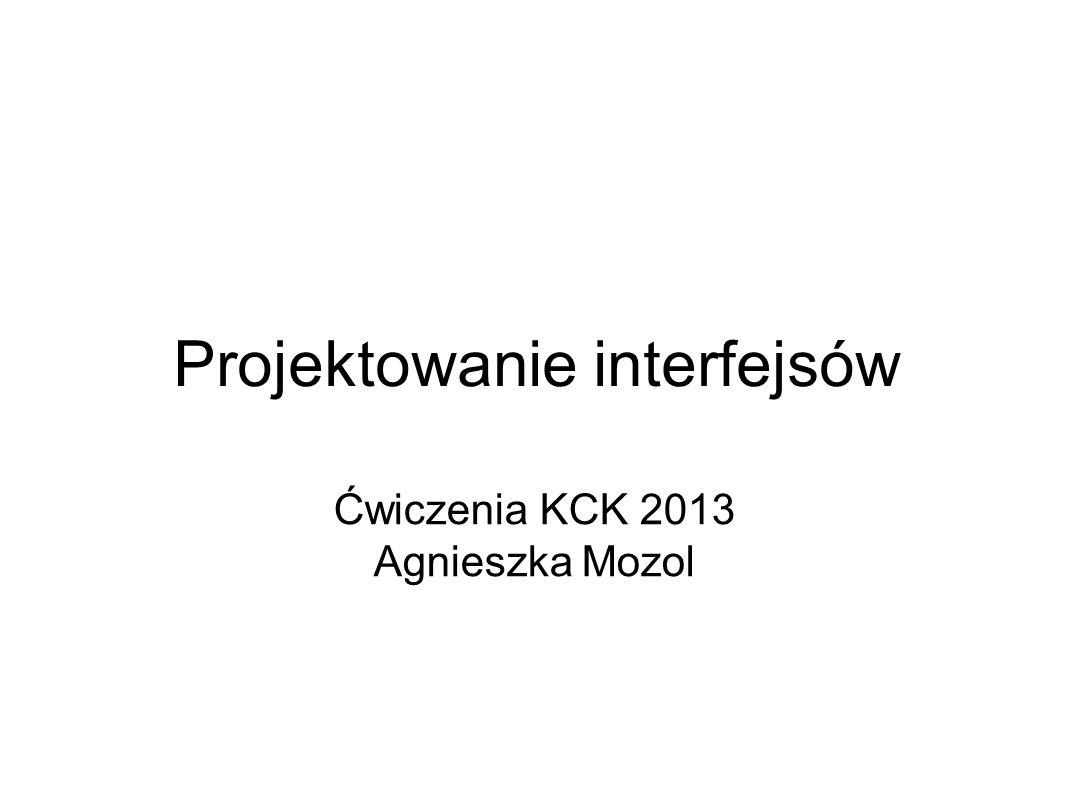 Projektowanie interfejsów