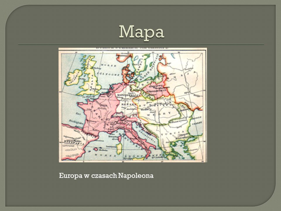 Mapa Europa w czasach Napoleona