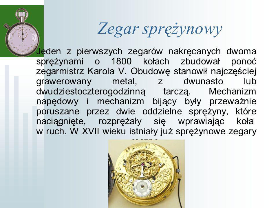 Zegar sprężynowy