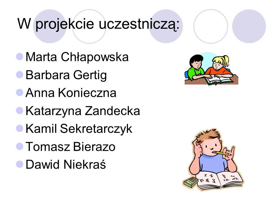 W projekcie uczestniczą: