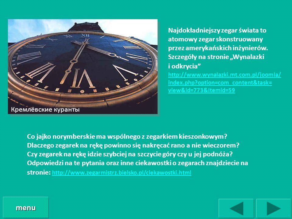 menu Najdokładniejszy zegar świata to