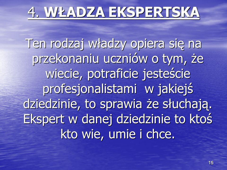 4. WŁADZA EKSPERTSKA
