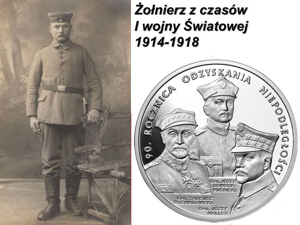 Żołnierz z czasów I wojny Światowej 1914-1918