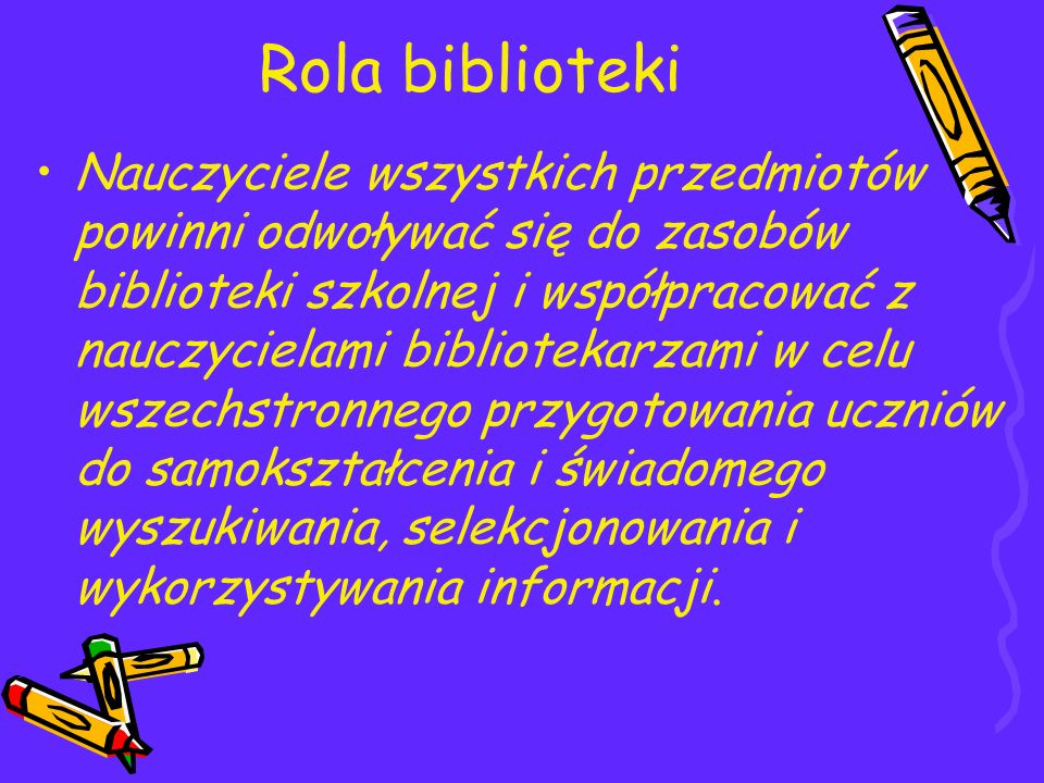 Rola biblioteki