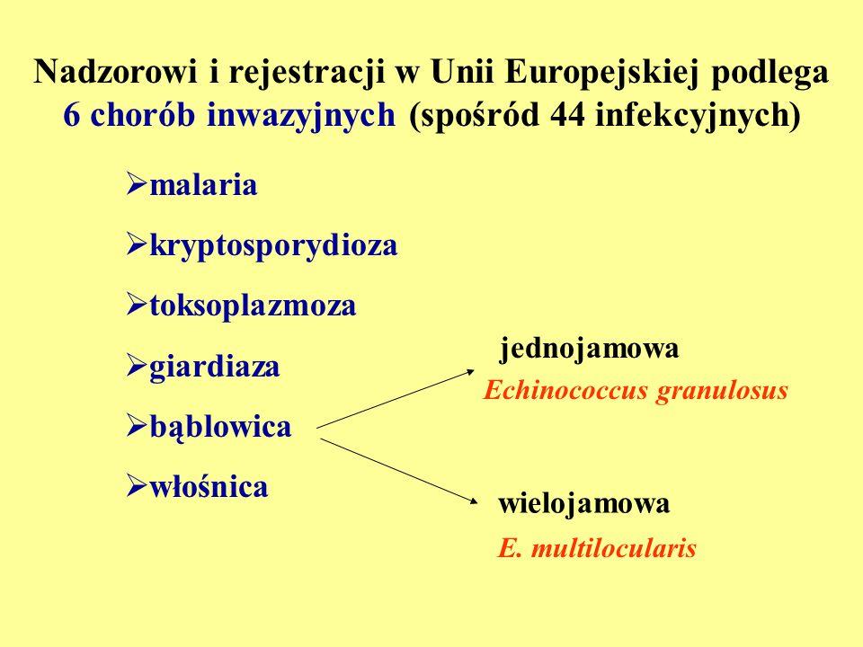 Nadzorowi i rejestracji w Unii Europejskiej podlega 6 chorób inwazyjnych (spośród 44 infekcyjnych)