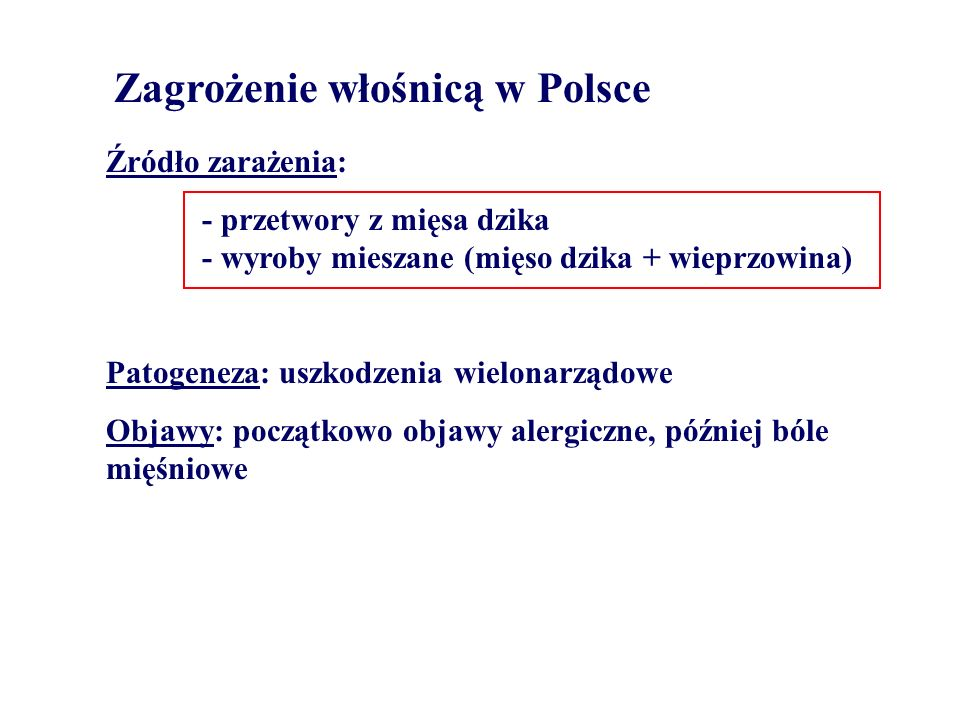Zagrożenie włośnicą w Polsce